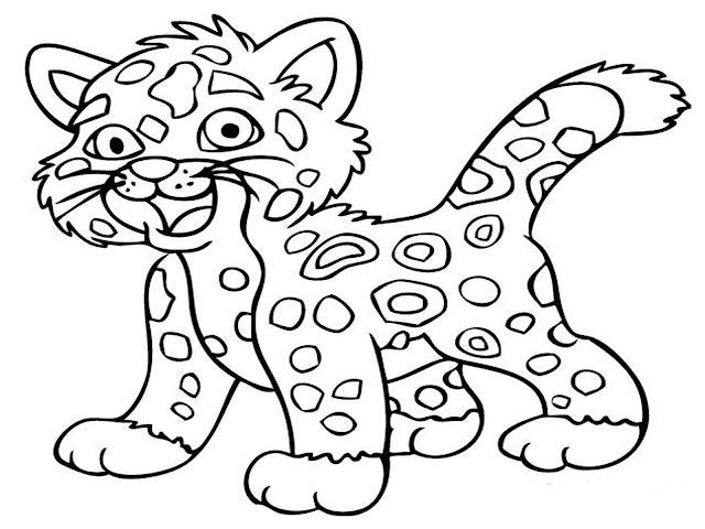 tranh tô màu động vật cho bé tập tô màu 22
