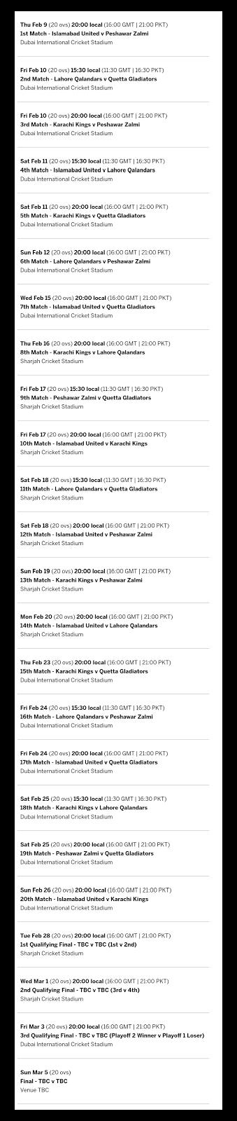 Psl Live Streaming Hd Live Stream Pakistan Super League 2017 For Outside Pakistan