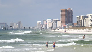 Panama City Beach, Blick von St. Andrews State Park, Florida