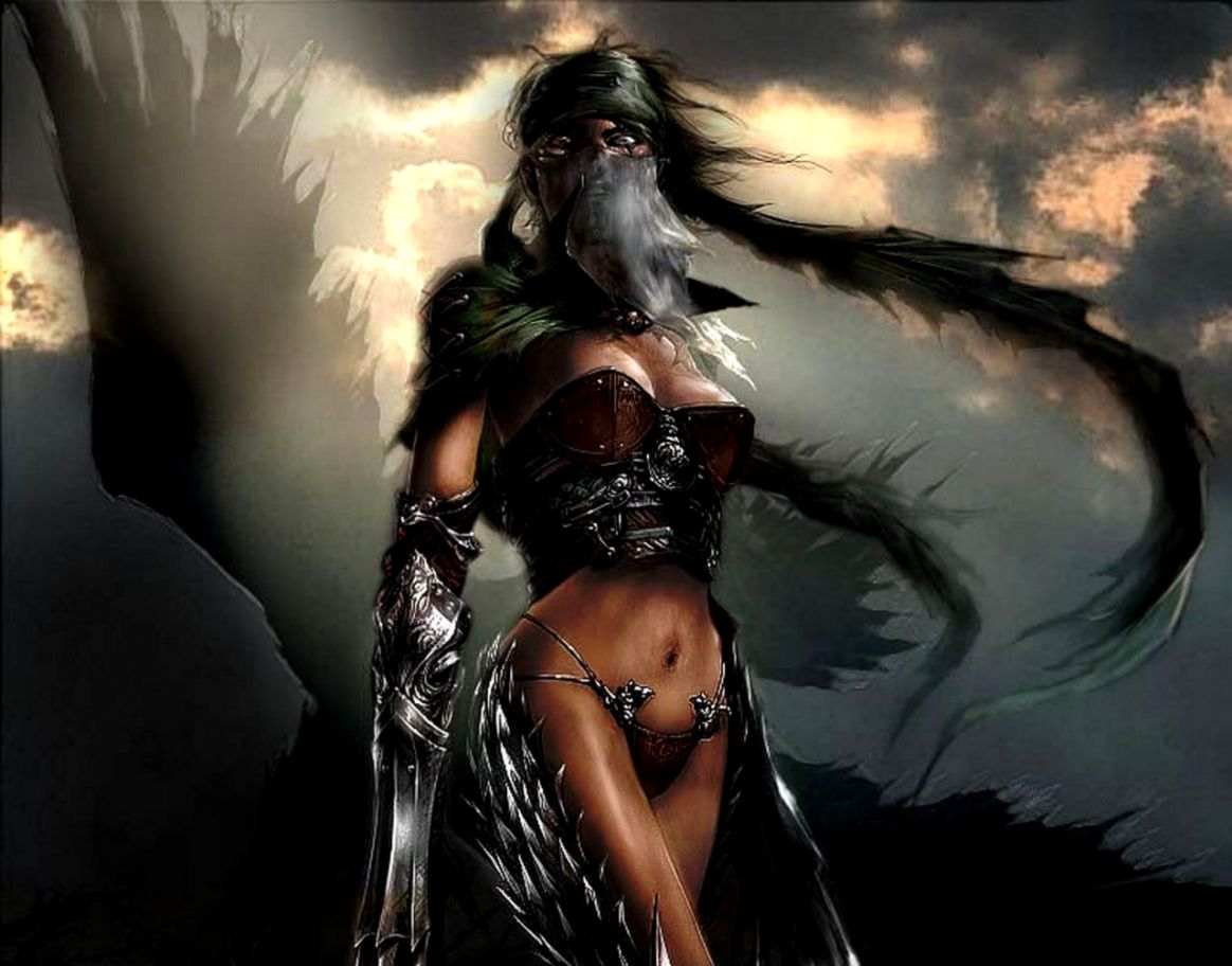 Fantasy Warriors Wallpaper Men the masked lady Wallpaper