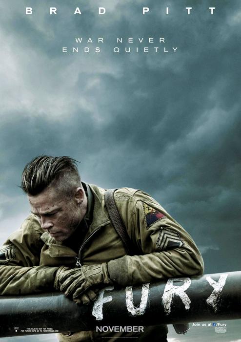 Primul poster oficial pentru filmul Fury cu Brad Pitt