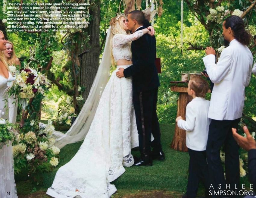 Wedding Ashlee Simpson and Evan Ross