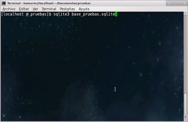 crear o abrir base de datos con sqlite3