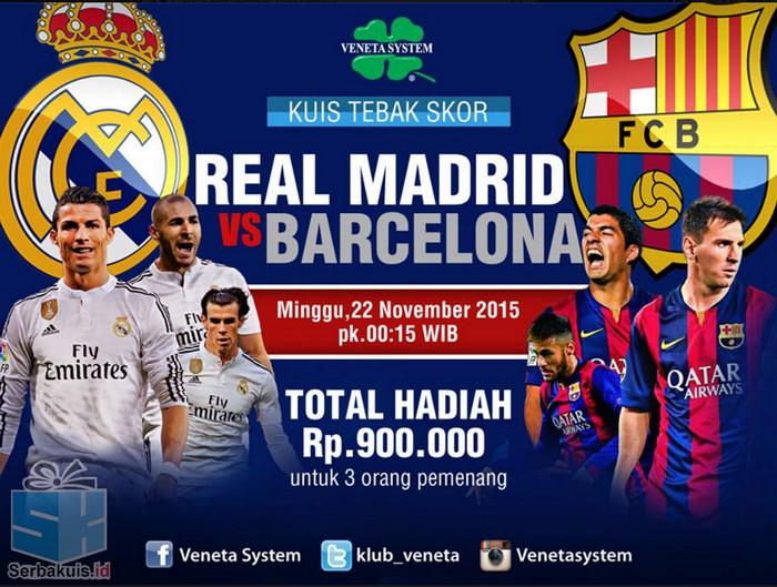 Tebak Skor Real Madrid vs Barcelona
