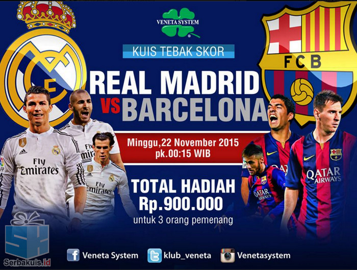 Tebak Skor Real Madrid vs Barcelona