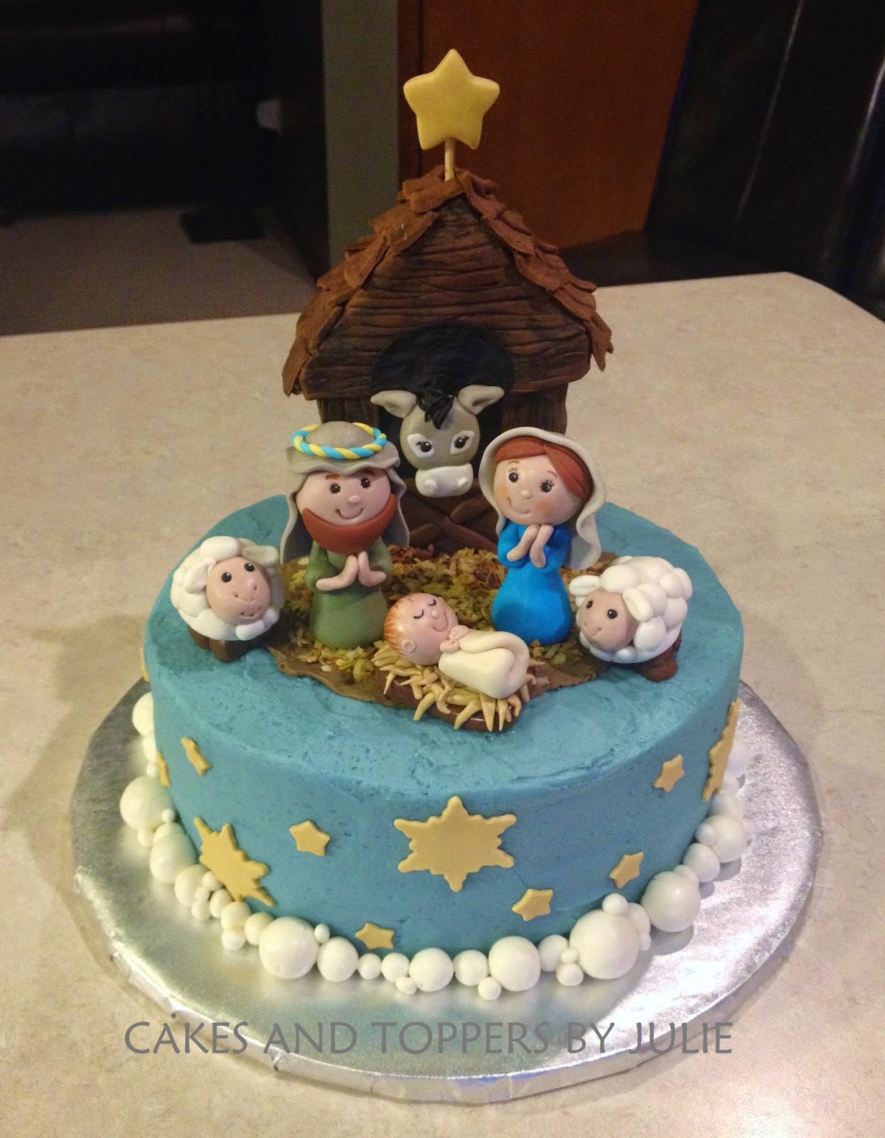 Custom Cakes By Julie Nativity Cake