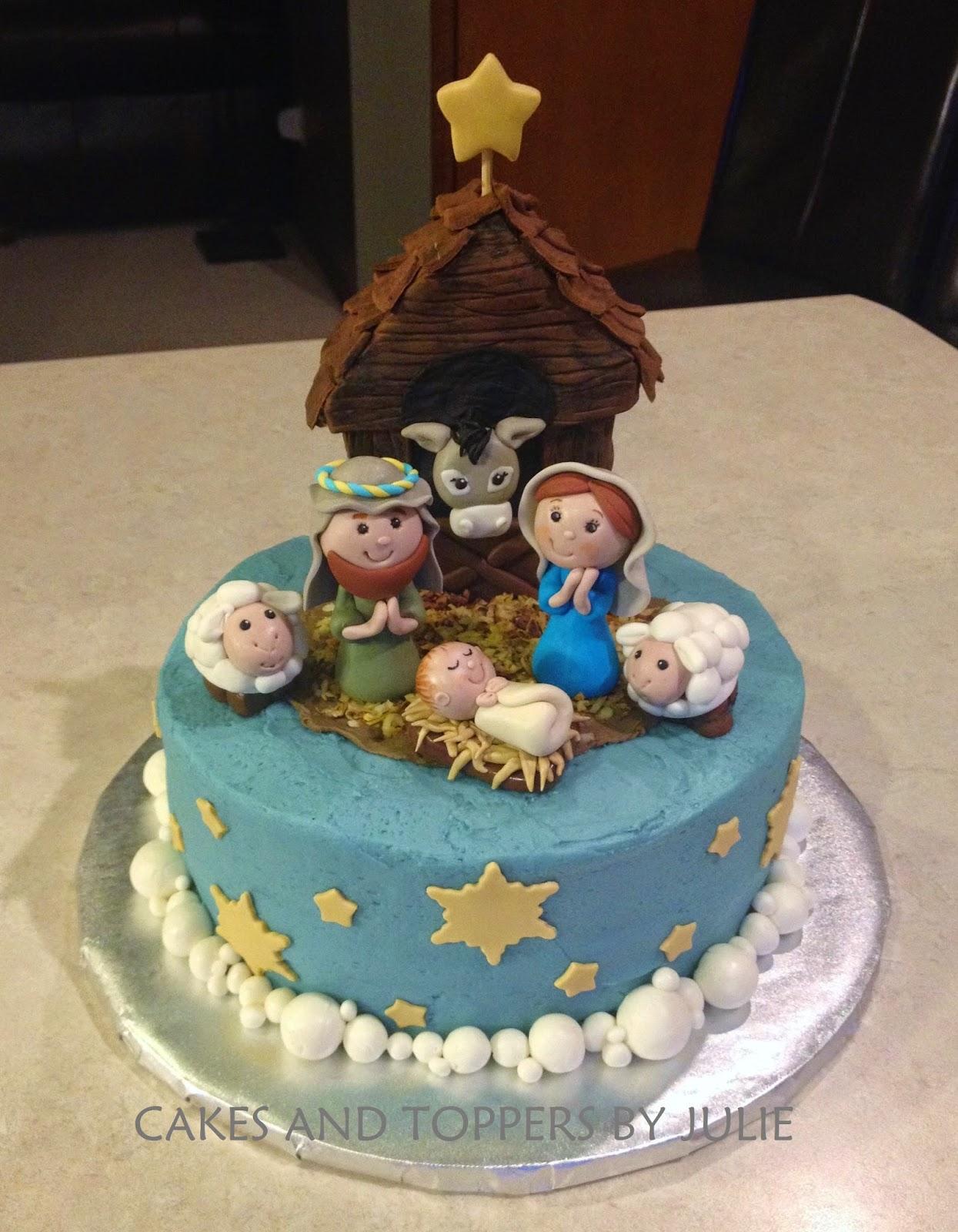 Custom Cakes by Julie Nativity Cake