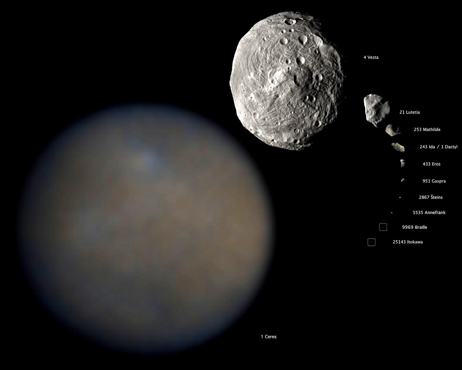 4 biggest asteroids in asteroid belt - photo #7