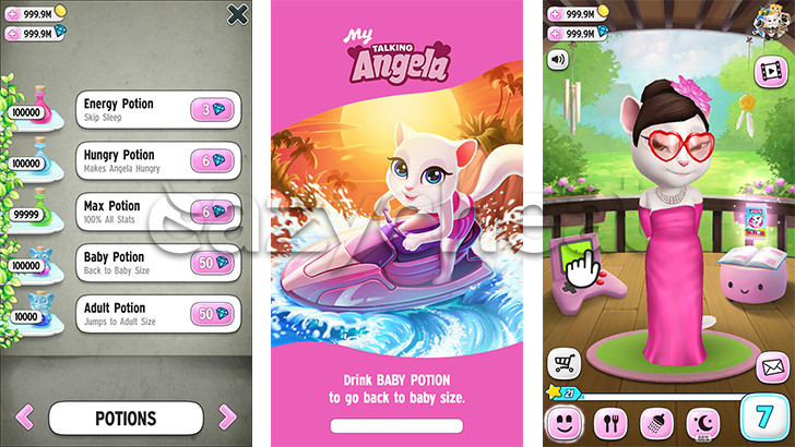 my talking angela hack version game download