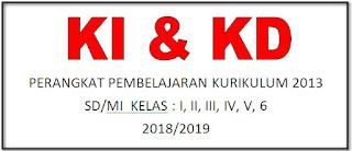 KI DAN KD PERANGKAT PEMBELAJARAN KURIKULUM 2013 SD/MI TAHUN PELAJARAN 2018/2019