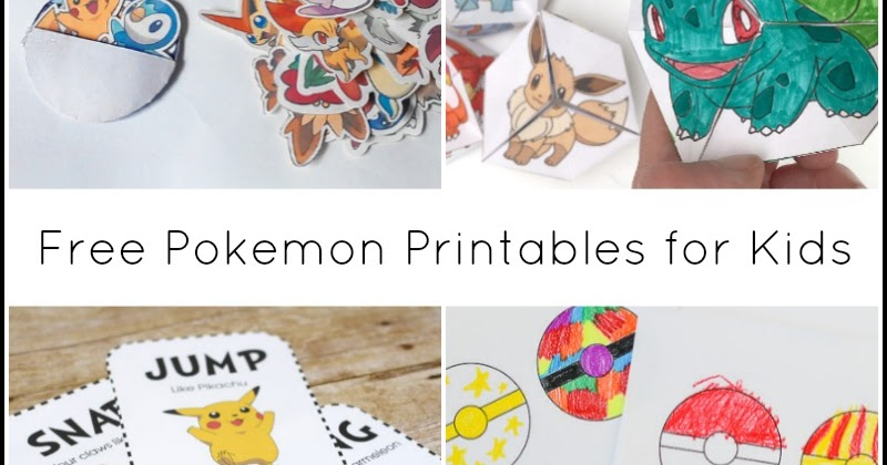 Free Pokemon Printables For Kids And Next Comes L