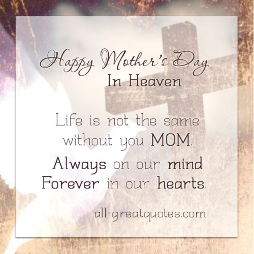 Happy mothers day in heaven images quotes poems