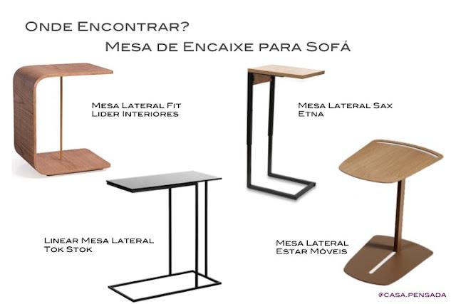 modelos de mesa de encaixe sofá