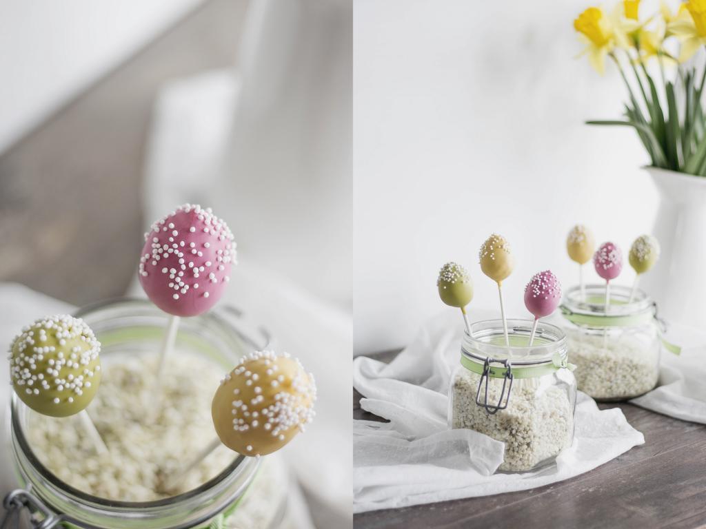 bunte Osterei - Cake Pops
