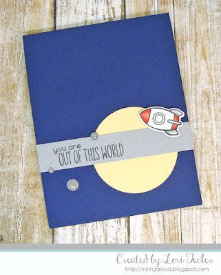 Out of This World card-designed by Lori Tecler/Inking Aloud-stamps and dies from Lawn Fawn