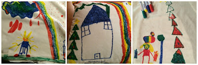 children are drawing pillows
