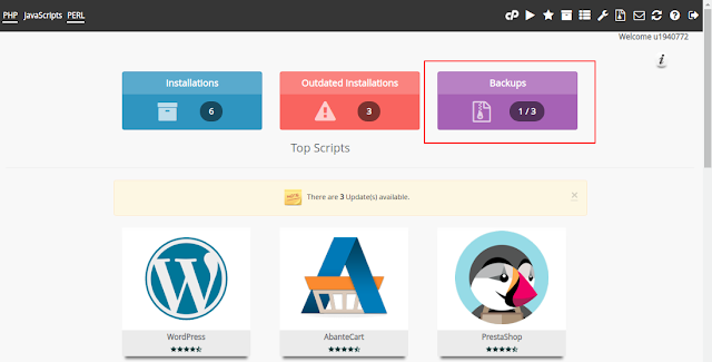 Cara Backup Dan Restore Wordpress Dari Softaculous