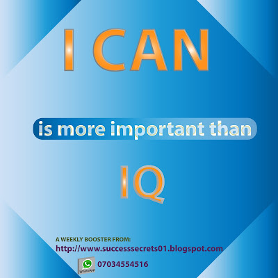 Weekly Energizer: I can and IQ