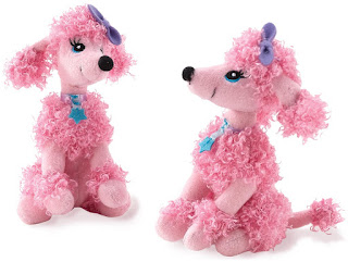 Pink Poodle Mini Plush Stuffed Animal