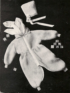 Vintage Baby Knitted Suit Pattern