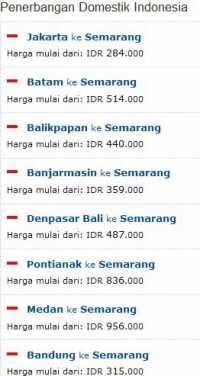 Tiket Murah Penerbangan Domistik ke Semarang