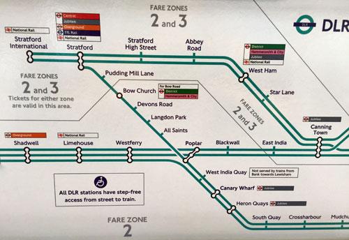 Diamond Geezer - London dlr map
