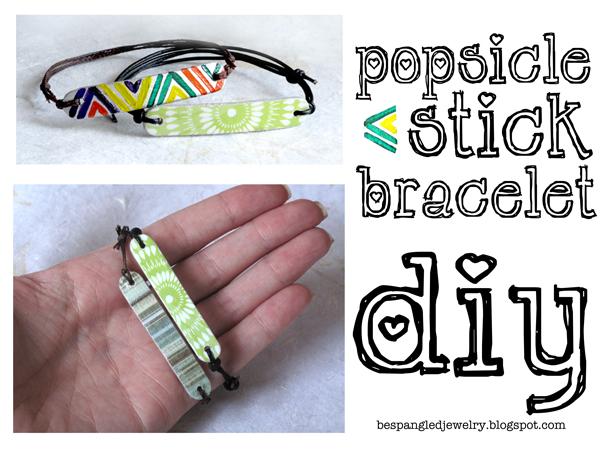 Bespangled Jewelry: Popsicle Stick Bracelets: DIY Tutorial