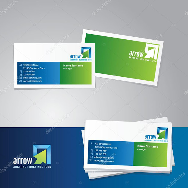 Business Card Vector Template  Stock Illustration