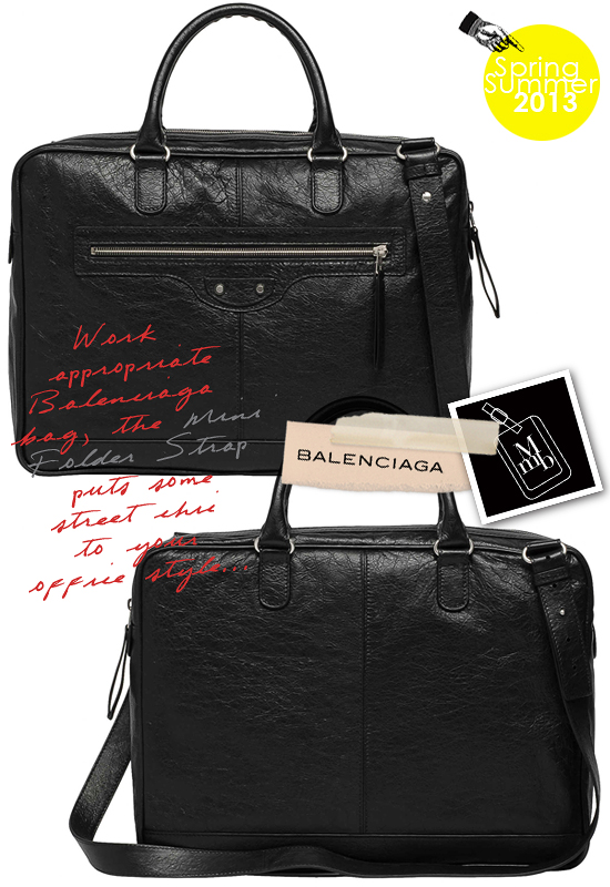 ff8339d7cce7 The Balenciaga Mini Folder Strap brings some street cool to your office  style. No more excuses for boring work bags -P