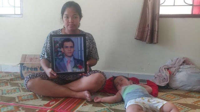 Friska Silaban, istri Joni Silalahi yang tewas di keroyok Satpam di Unimed, Selasa (19/2/2019) lalu