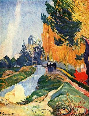 Foto a la pintura Los Alyscamps de Paul Gauguin