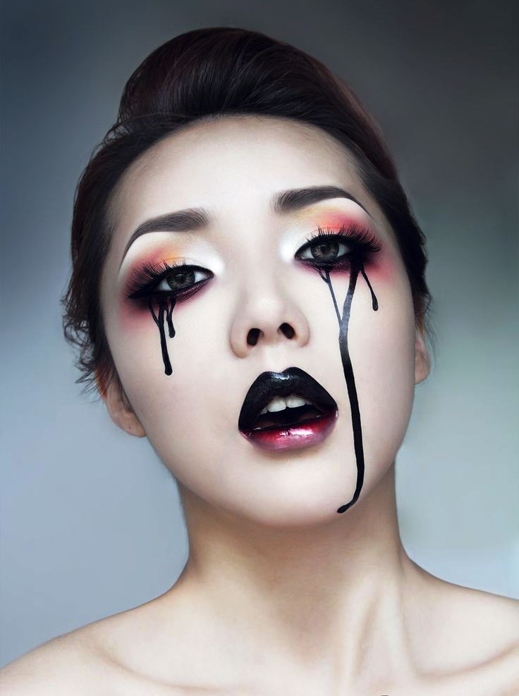 Gothic Lipsticks Halloween Makeup