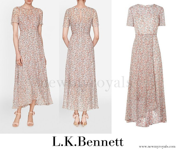 Princess eugenie attend summer party in london for Lk bennett wedding dress