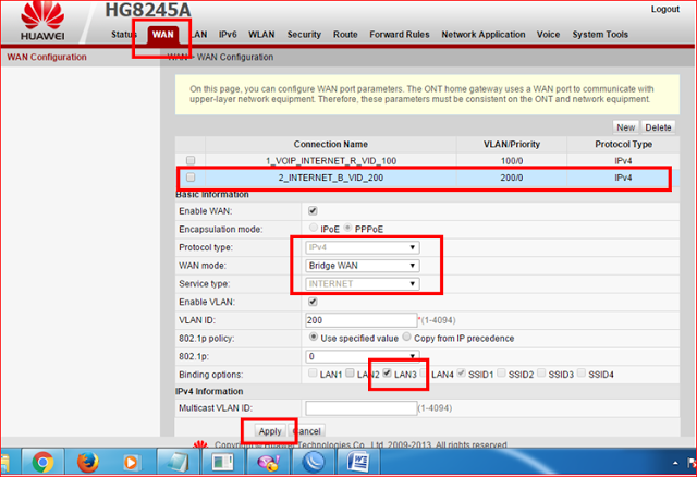 Cara Setting Modem Indihome Huawei Hg8245a