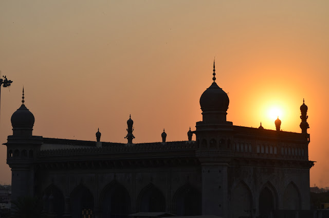 Sunset at Mecca Masjid. Hyderabad