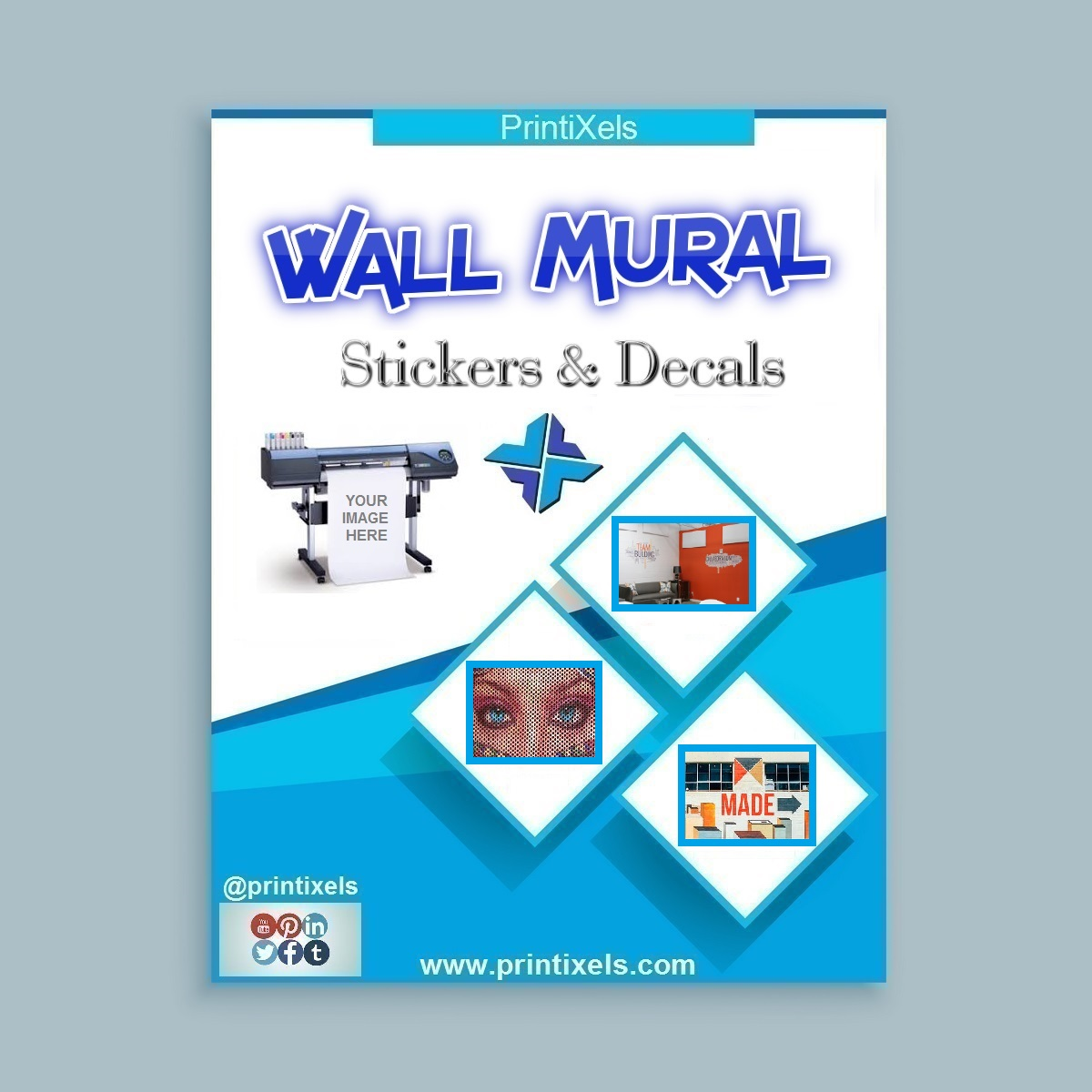 Wall Mural Stickers & Decals - Printing & Installation
