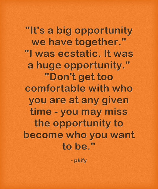 It's a Big Opportunity We Have Together Life Quotes
