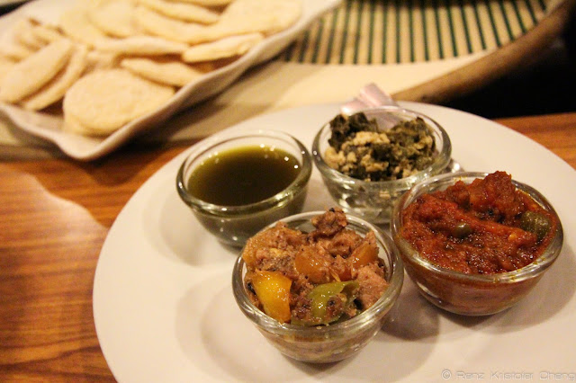 The Starter: Pizzettes with four sauces