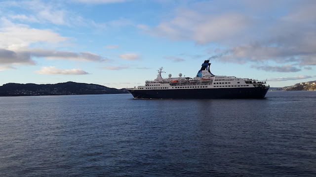 Saga cruise ship Saga Pearl II in Bergen, Norway