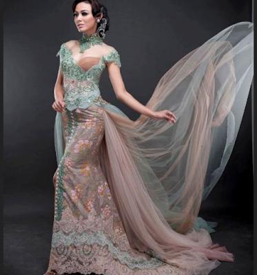 gaun pengantin kebaya modern