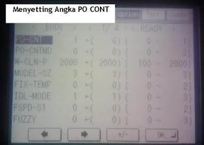Inilah Cara Menyetting Angka PO CONT di Mesin Fotocopy