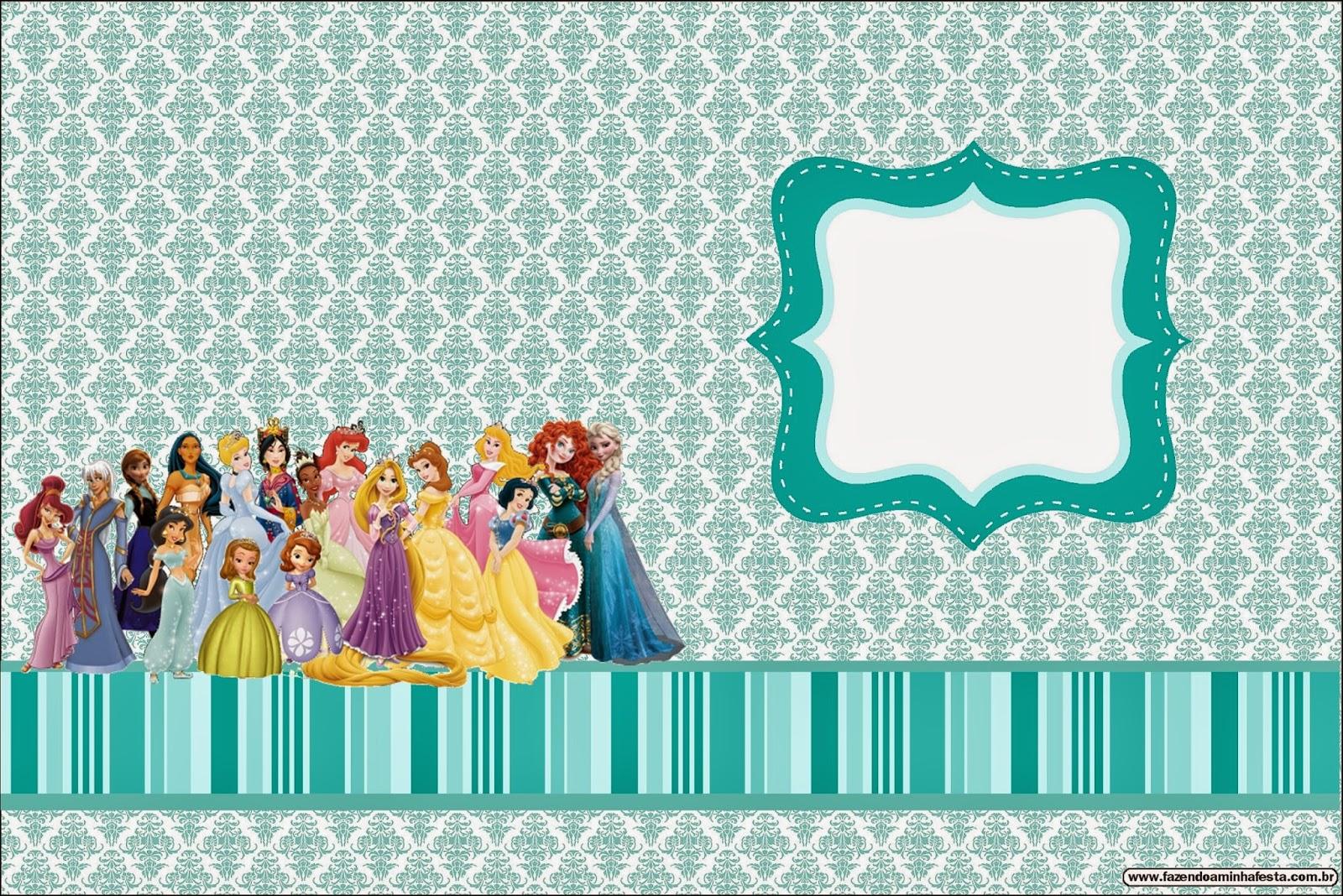 Todas las Princesas Disney: Invitaciones para Imprimir Gratis ...