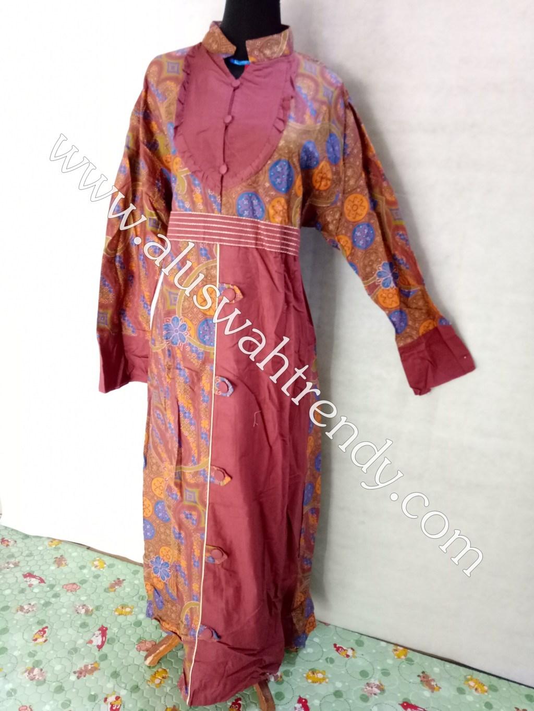Gamis Batik 018 Bahan Katun