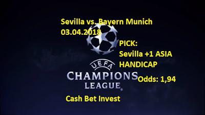 Sevilla - Bayern Munich 03.04.2018 - Cash Bet Invest