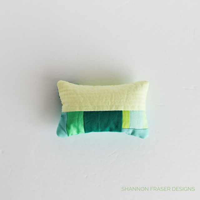 Modern Quilted Pin Cushion | Tutorial | Shannon Fraser Designs | RJR Fabrics | Cotton Supreme Solids