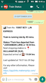 How to check PNR and live train status using WhatsApp in hindi