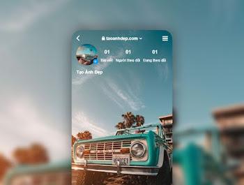 Cách tạo ảnh instagram backgound Online