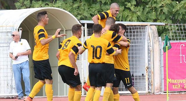 Νίκη της ομάδας Κ20 της ΑΕΚ επί του Ηρακλή με 1-0