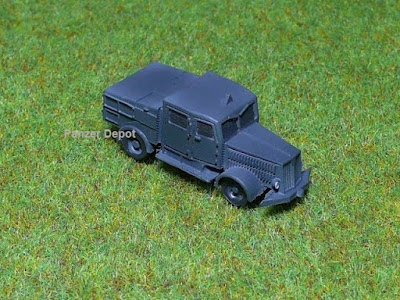 German Faun ZRS tractor gray