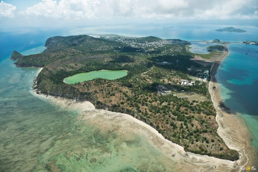 Mayotte , vue aérienne